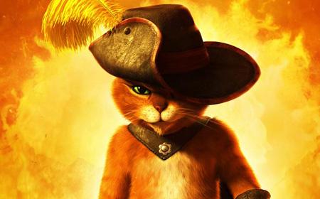 Кот в сапогах мультфильм картинка